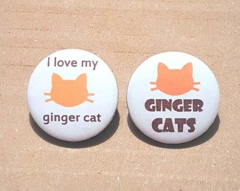 Crazy Cat Lady, Cat Lover Gifts, I Love Cats, Ginger Cats, Cat Badges, Cat Brooch, Cat Birthday Gifts, Mothers Day Gifts, orange cats
