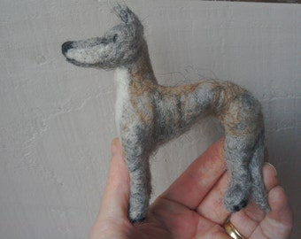 Needle felted little Whippet