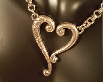 Sliver plated necklace with gorgeous heart