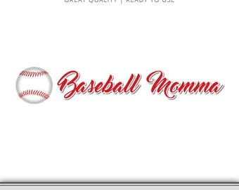 Baseball Momma Graphic - Ready to Use! Baseball Cut file, Baseball Mom Cut File, Silhouette File, Cameo File, Cricut File, Baseball Mom SVG