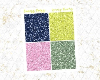 30% OFF   Spring Blooms Glitter Headers   28 Stickers