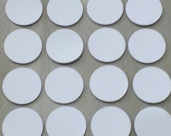 Leather Circles, White, 7 Sizes 10mm. 12mm.15mm. 20mm. 25mm. 30mm. 35mm., Leather Circles Die Cut, Circles Decoration, DIY Projects.