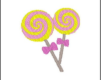 Lollipops Embroidery Pattern Design
