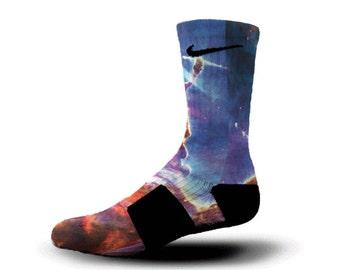 Custom Nike Elite Socks KD LeBron Kobe All Sizes HoopSwagg FINAL FRONTIERS