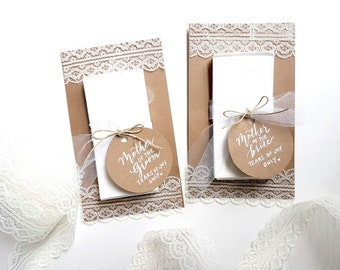 Set of 2 Wedding Tissues - Wedding Favours - Tears of Joy Only Custom Favors - Tulle and Lace Favors - Bridal Tissues - Personalized Kleenex