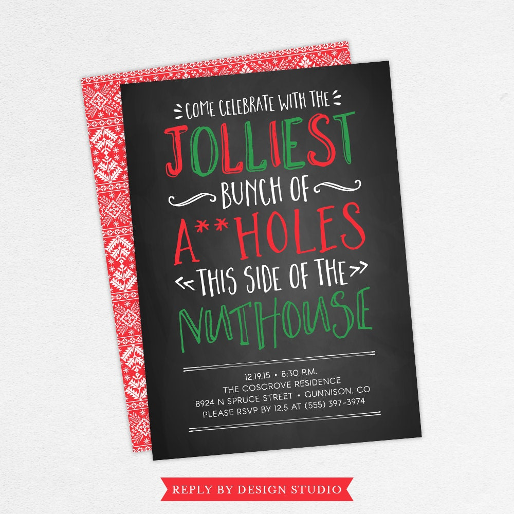 Funny Christmas Party Invitations Adult Christmas Party