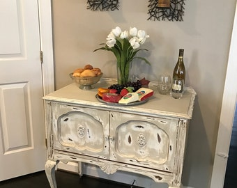 Antique/ Vintage Buffet, Circa 1870u0027s, Distressed Buffet, Shabby Chic  Sideboard, Rolling