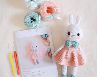 Cotton Candy Bunny Amigurumi Kit