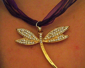 Dragonfly necklace / dragonfly necklace