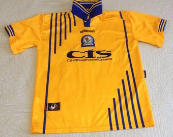 Vintage Blackburn Rovers uhlsport Away Soccer Jersey Large