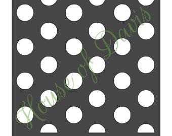 Large Polka Dots Stencil - 12x12