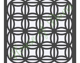 Circle Quilt Stencil - 12x12