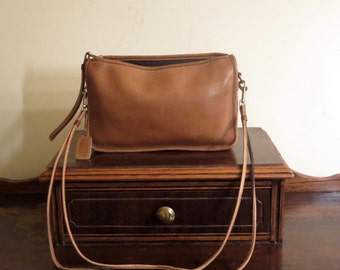 Spring Sale Coach Basic Bag In Saddle Leather With Detachable 36 Inch Strap- VGC
