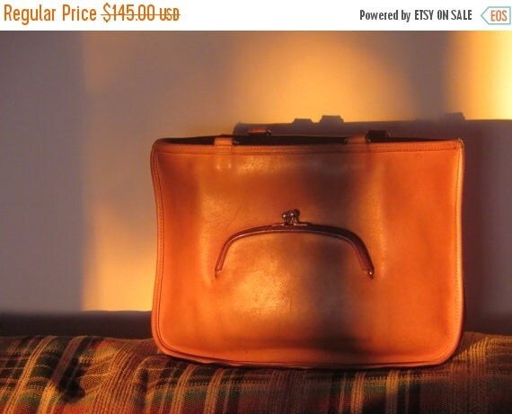 Football Days Sale NYC Coach Watermelon Tote Bonnie Cashin Style Saddle Leather Satchel - Made in New York City USA