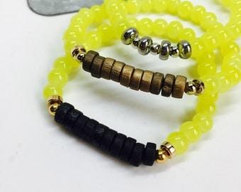 Yellow neon bracelet- summer style
