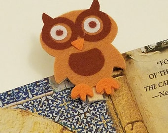 Cute Owl Bookmark / page markers / page holders / sale