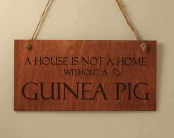 guinea pig sign home sign wall decoration wood sign small sign pet lover gift sign with
