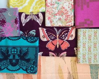 Fat Quarter Bundle- Rainforest at Dawn - Destash Fabric Quilting Bundle