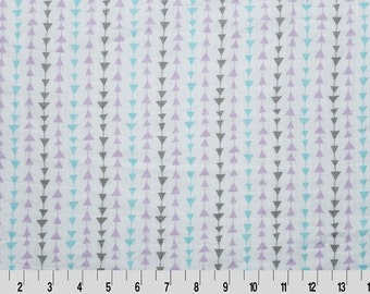Double Gauze Fabric // Embrace Gauze Fabric in Lilac and Gray Arrows