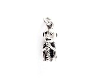 Small Silver Thor VIKING KRISTALL 3 dimensions pendant