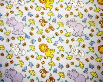 Precious Moments Animals Flannel Fabric