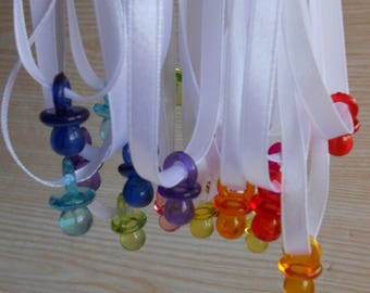 Baby Shower  Pacifier Necklace (20  Pieces) , Baby Shower Favors ,Baby Shower Games Supplies
