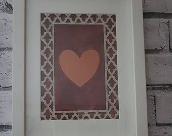Framed Heart Art Birthday, Christmas, Anniversary Gift