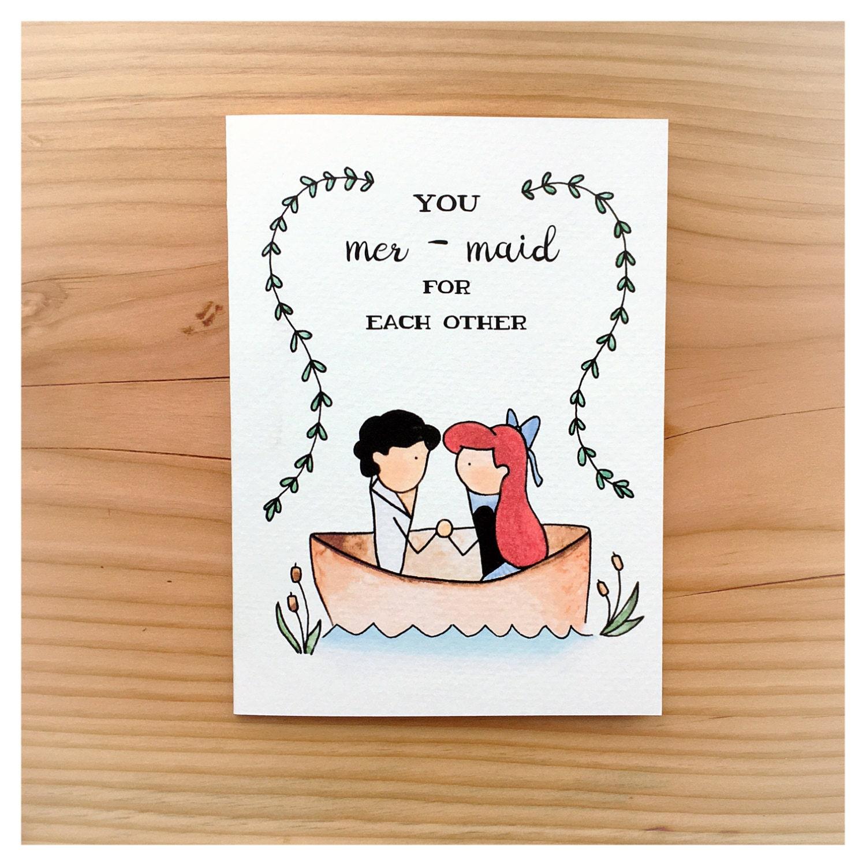 Mermaid wedding card anniversary