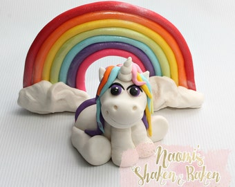 Unicorn & Rainbow Edible Cake Topper