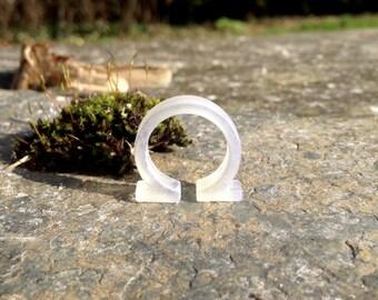 3D printed UV fluorescent Fibonacci Greek Omega Ohm resistance ring