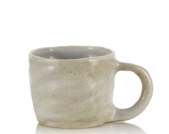 Ceramic mug stoneware natural