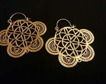 NEW! Flower of life earrings