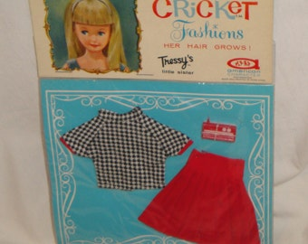 American Cricket Doll Tressy's Little Sister Mint in Package Outfit Mad Music