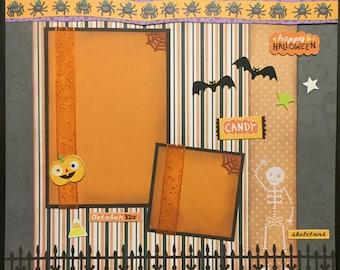 HALLOWEEN Premade 12x12 scrapbook page