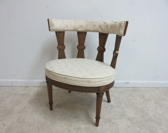 Vintage Italian Regency Fireside Side Lounge Living Room Side Chair A
