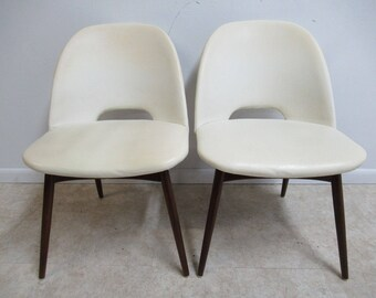Pair of Adrian Pearsall Craft Associates Scoop Side Chairs B