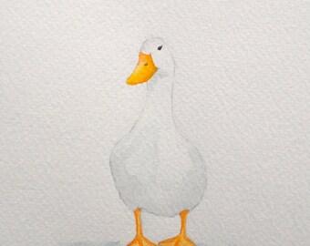 "Original Watercolour ""Deidra"" duck"