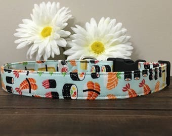 dog collar, sushi dog collar, fish dog collar, food dog collar, sushi flower, sushi collar, sushi , girl dog collar, boy dog collar