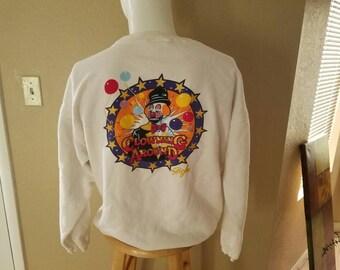 Vintage Ron Lee Lee's Clowns Clowning Around Adult Sweater Size Medium
