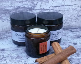 Spa Candle with Essential Oils - Black Cinnamon