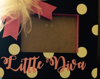 Little Diva Polka Dotted Picture Frame