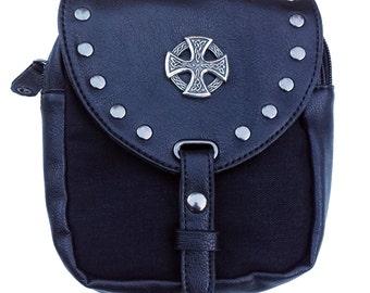 Kilt bag black Celtic Cross