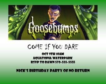 Simple Goosebumps Invitations