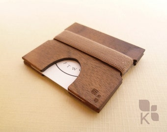 CORDOVA M | Handmade Square Business Card Holder - Wallet Accessory - Wooden & Locally Designed - Business Networking - by Konisa Studio