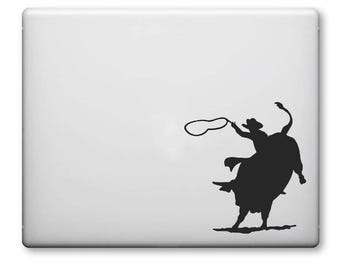 Rodeo decal, Cowboy decal, Rodeo Sticker, Cowboy Horse Rodeo Decal , Laptop Decal, Custom Car Decal, Laptop Sticker, Vinyl Stickers