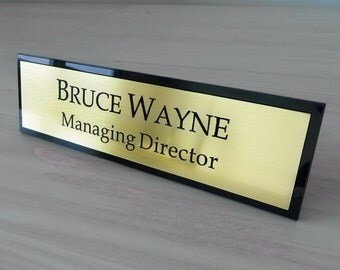 Executive Personalised Desk Name Plate, Custom Engraved Sign, Plaque, Office Sign.