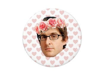 Louis Theroux - Badge - Fridge Magnet - Quotes -  TV