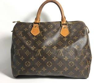 Authentic Louis Vuitton bag. Louis Vuitton Speedy 30 bag. Louis Vuitton satchel bag. Louis Vuitton handbag. Louis Vuitton travel bag