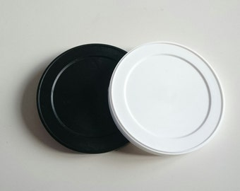 Reusable Lids for vintage replica cans sold each  white or black