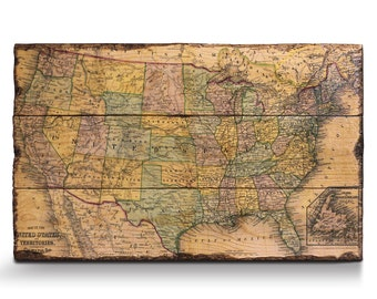 Rustic Maps Etsy - Map teardrop from russia to us